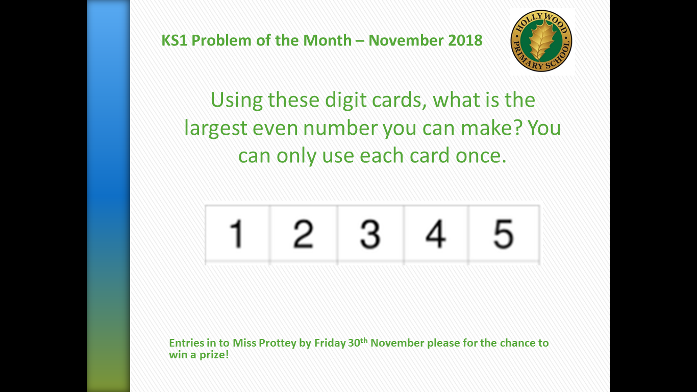 KS1 Maths Problem of the Month