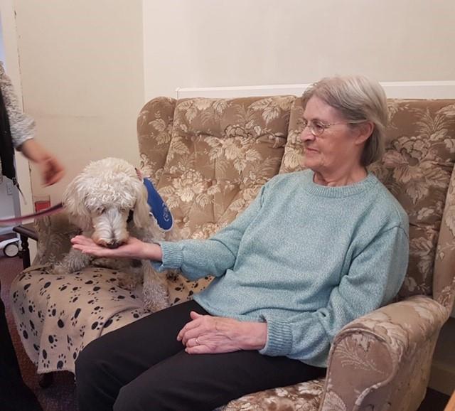 Daisy's visit to Elizabeth House