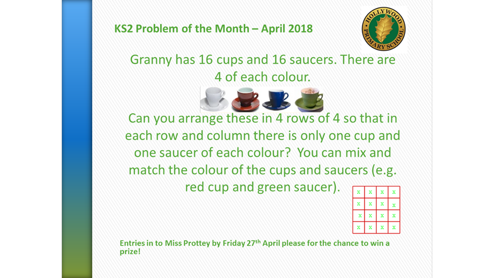 April's KS2 Problem of the Month