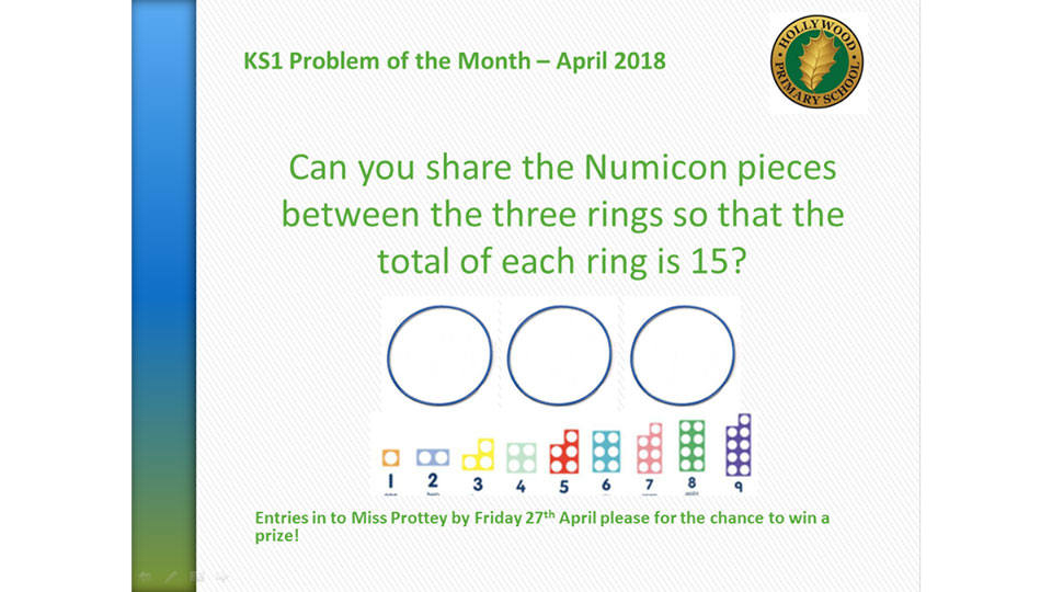 April's KS1 Problem of the Month