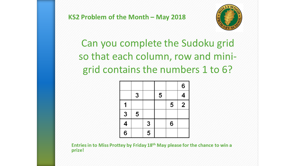 May's KS2 Problem of the Month