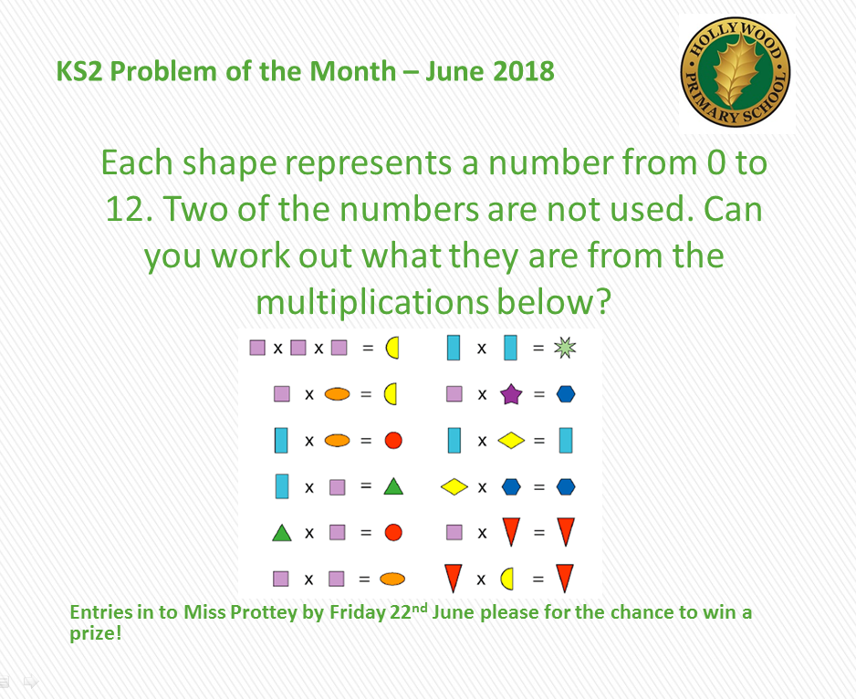 June's KS2 Problem of the Month