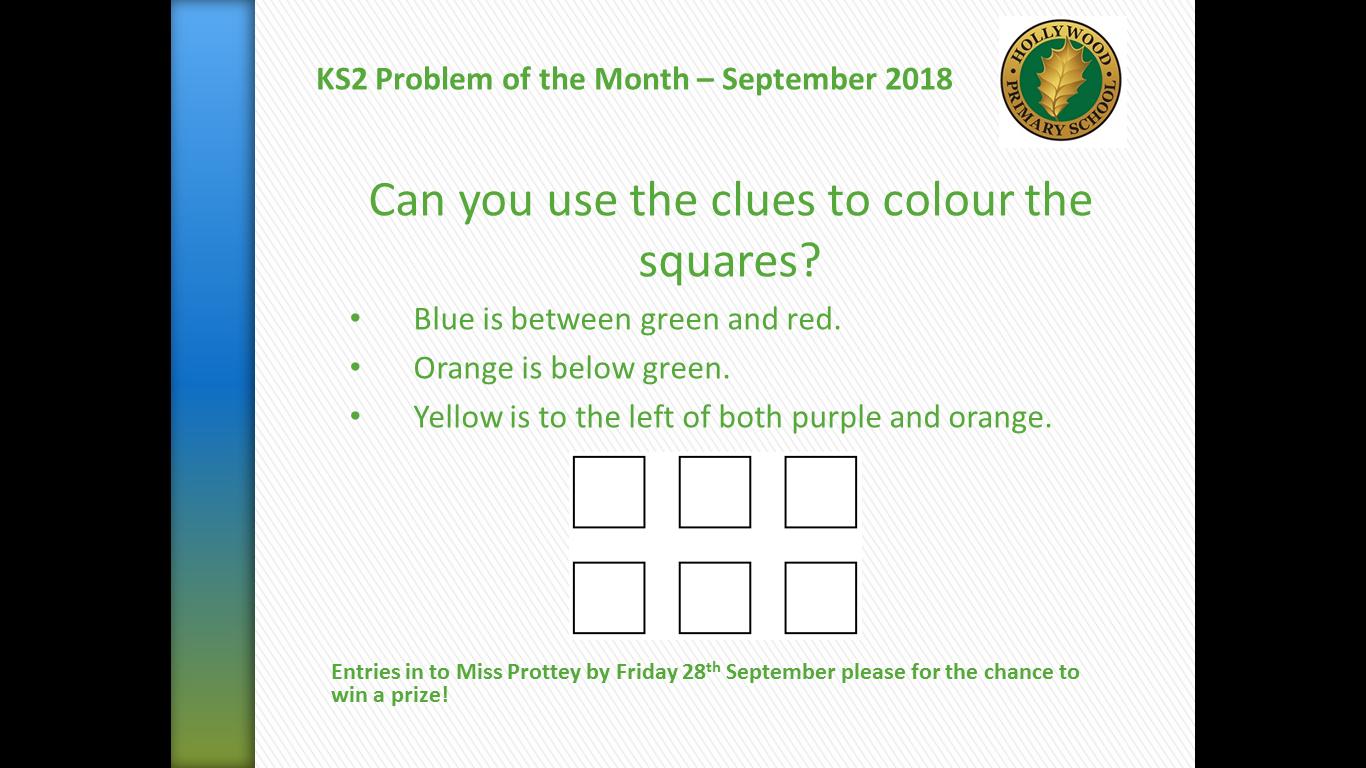 KS2 Problem of the Month